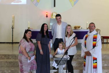 17 4 09 Baptism Ruth Delgado Courtney