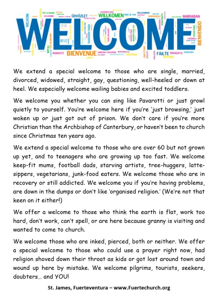 Special Welcome Sign